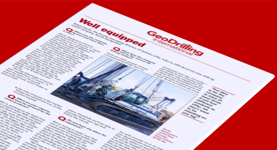 GeoDrilling International Features North Equipment