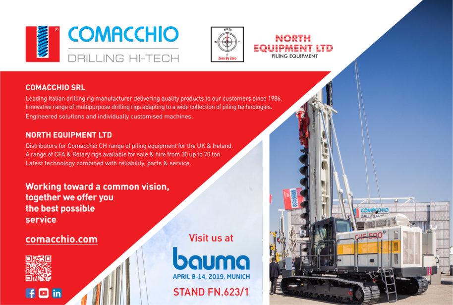 Visit North Equipment and Comacchio bauma 2019